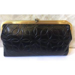 Hobo Lauren Black Leather Wallet Clutch New
